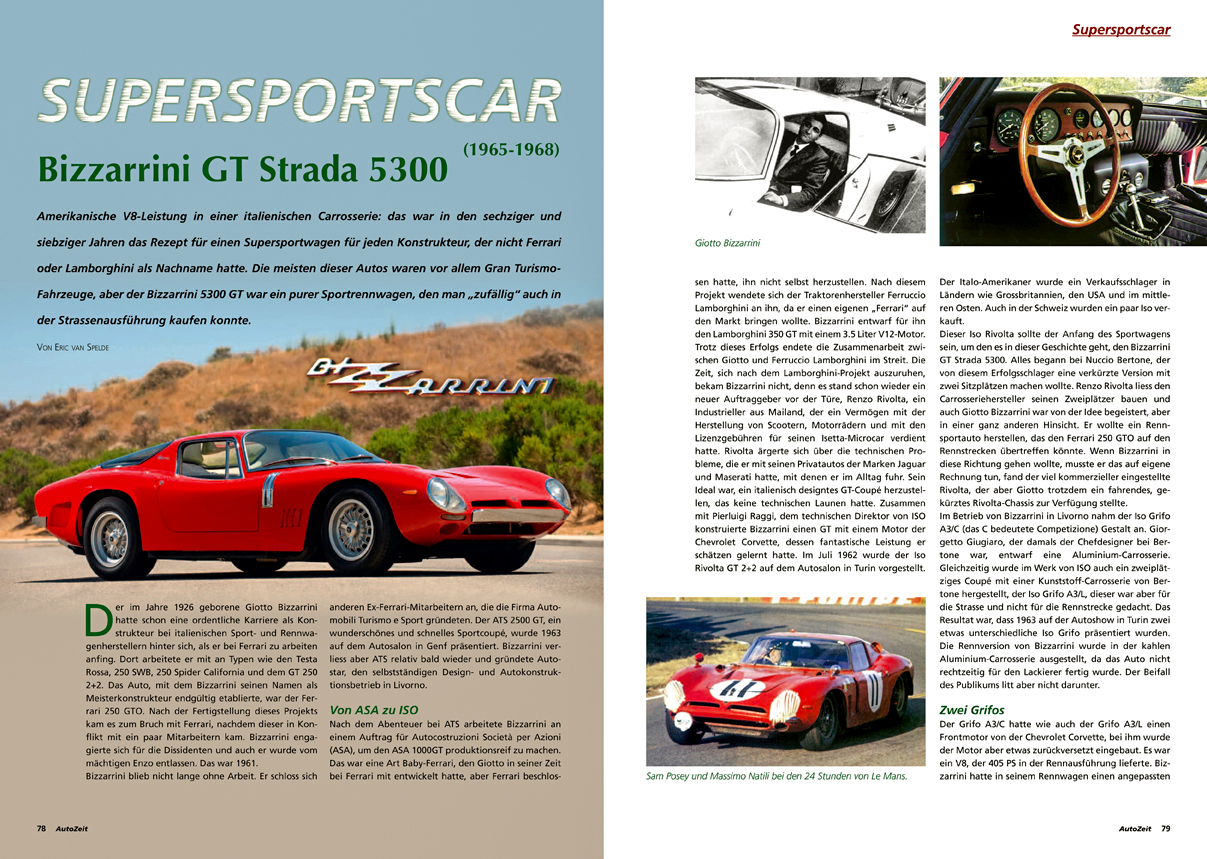 Supersportscar Bizzarrini GT Strada 5300