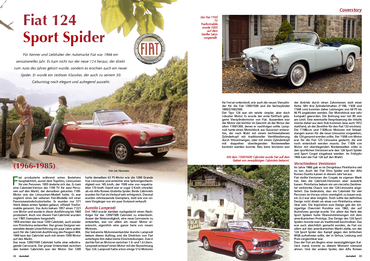 Coverstory: Fiat 124 Sport Spider (1966-1985)